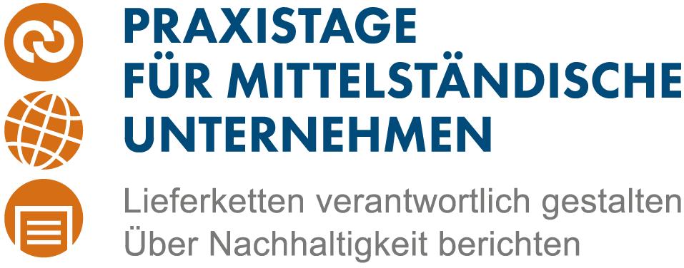 Logo Praxistage Lieferketten verantwortlich gestalten - Über Nachhaltigkeit berichten